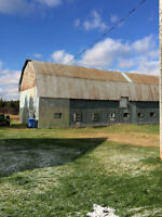 Country Home and Barn including 50 acres of Land
