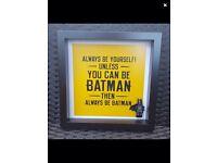 Batman dark knight frame gift
