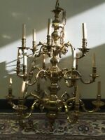 3 tier 18 arm solid brass chandelier NO PAYPAL