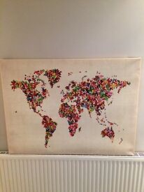 Butterfly map of the world