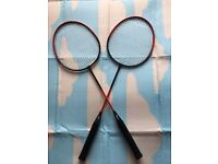 Two badminton rackets, immaculate, quick sale for both at only £15