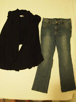 Women/Girls Jeans & A Cardigan for $5.00, Size Small
