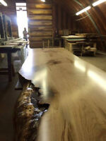 LIVE EDGE HARVEST TABLE DINING ROOM TABLE COFFEE TABLES & BENCH