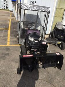 "Craftsman Garden tractor with 48"" snowblower"