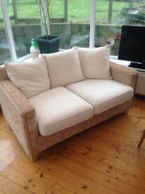 FOR SALE , 2 SEATER WICKER COUCH
