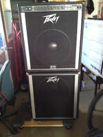 "Peavy 300 watt bass amp with 15"" speaker and 15"" extension cabin"