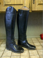 "Tall woman's horse riding boot - 20 "" - size 8"