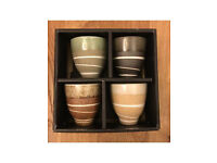 Tea cups x4, boxed, Made in Japan