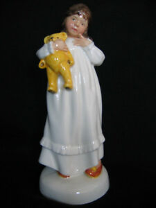 "ROYAL DOULTON ""AND SO TO BED"" FIGURINE MADE IN ENGLAND"