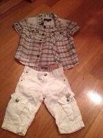 Clothes and shoes for a boy