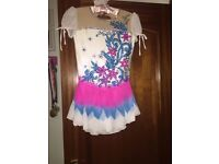White, Blue and Pink Competition Dress
