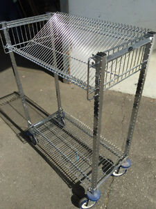 PRICE LOWERED! Library cart, Chrome, Used, several available