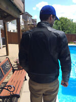 MENS REVZILLA Waterproof Leather/mesh jacket. removable liner