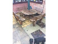 Garden Table / Bench Seat (sits 8) Set