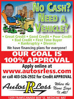 Great Credit, Poor Credit, No Credit Approvals