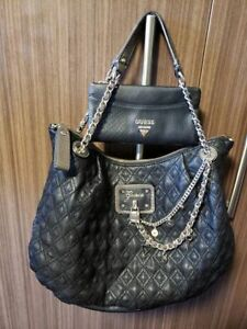 Large black GUESS purse & matching wallet