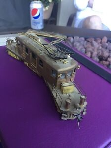 Beautiful four wheeled brass locomotive crafted bye Orion  London Ontario image 2
