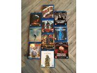 Ten bluray horror DVDs