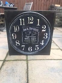 Jack Daniels Rustic Large Metal Clock BNIB