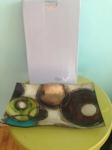 NEW, IN THE BOX- MULTI COLORED PLATE