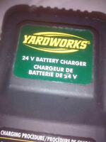 Yardworks 24V battery charger batterie de 24V