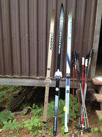 Karhu and DynaTours Cross Country Skis, Poles and Boots
