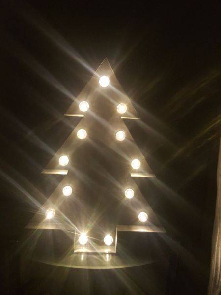 Xmas Tree Marquee Light Star And Lightning Lights Other