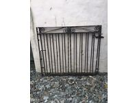 Iron gates for drive. Plus railing and extra gate.