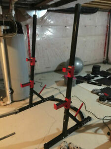 Squat Rack Cage with Safety Spotters - no weights bars dumbbells