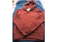 Jack Wills Mens pure wool jumper with hood