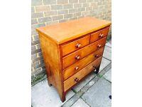 Victorian mahogany chest of draws