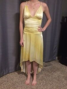 Golden Yellow semi-formal dress