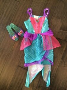 4-6x Ariel costume with shoes