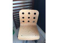 Ikea wooden swivel chair