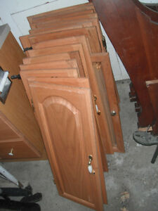 USED Oak Cabinet Doors/ Mirror $20.00 each