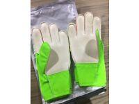Electric Green/Volt~Goalkeeper Junior Childs Match Football Gloves