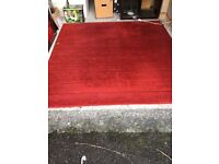 Large IKEA red rug