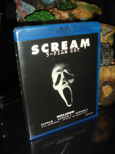 BLU-RAY-FRISSONS/SCREAM-5 DISC TRILOGY-FILM/MOVIE (NEUF/NEW)