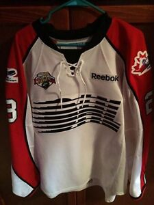 Game Worn & signed Stuart Percy OHL Canada Russia jersey
