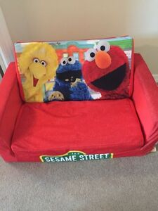 Sesame Street toddler couch and pull out bed