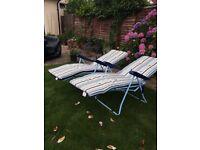 Garden Sun Loungers X 2