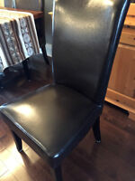 Dark brown parson's chairs. Set of 4 or 5.  Or buy all 9!