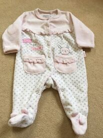 Selection of newborn girls clothes