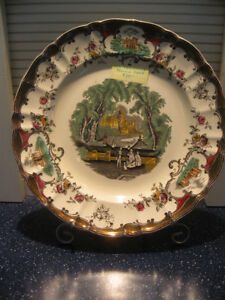 CHARMING OLD VINTAGE DECORATIVE ENGLISH-MADE CHINA  PLATE