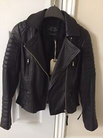 All Saints Womens Biker Leather Jacket New With Tags Bought For £398