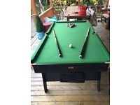 Pool table Fold away
