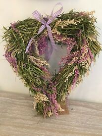 Lavender Heart Shaped Wreath