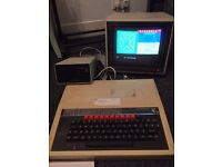 Vintage BBC micro computer Model B with monitor and printer in working order