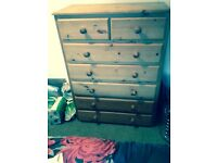 7 drawer pine chest of draws