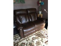 Lazy boy leather recliner 2 seater